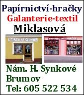 Galanterie, Papírnictví -  Miklasová