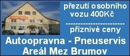 Autoopravna - Pneuservis, Areál Mez Brumov